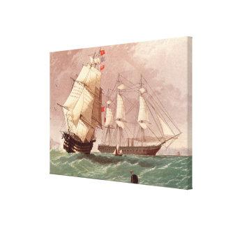 British warship HMS Warrior Canvas Print