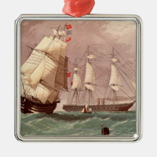 British warship HMS Warrior Christmas Ornament