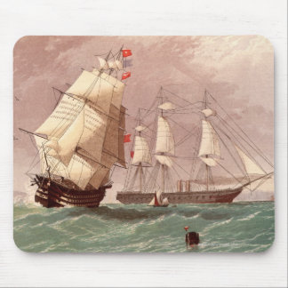 British warship HMS Warrior Mouse Mat