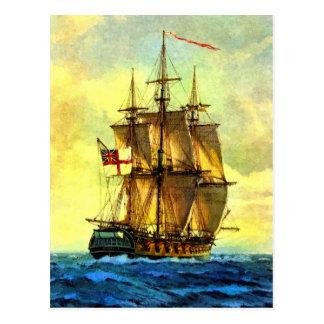 British warship postcard