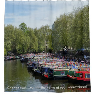 British Waterways - Braunston Canal Festival Shower Curtain