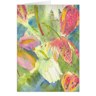 British Wild Flowers Painting Floral Design Cards