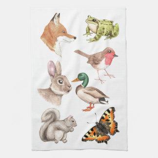 British Wildlife Kitchen Towel