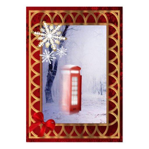 British winter landscape snow scene business card template