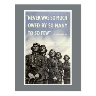 British World War 2 Churchill Quote Postcard