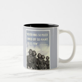 British World War 2 Churchill Quote Two-Tone Coffee Mug