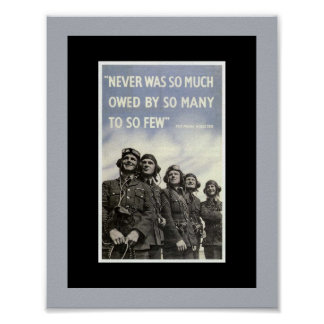 British World War 2 Vintage Quote Poster
