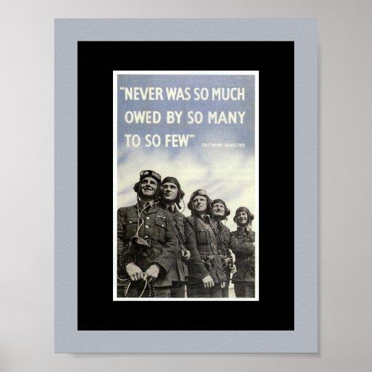 British World War 2 Vintage Quote Poster