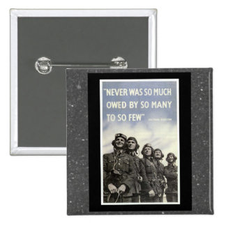 British WW2 Churchill Quotation 15 Cm Square Badge