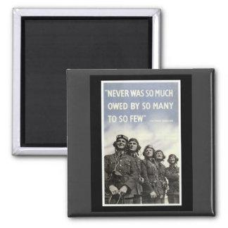 British WW2 Churchill Quotation Square Magnet