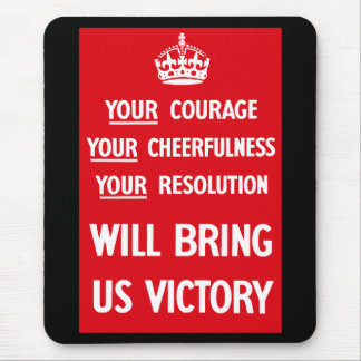 British WW2 Propaganda Mouse Pad