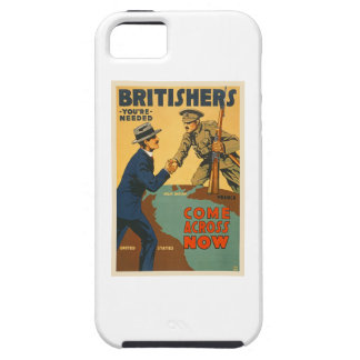 Britishers Come Across Now WWI British Propaganda iPhone 5 Cases