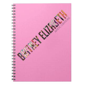 Britney Elizabeth Logo Notebook