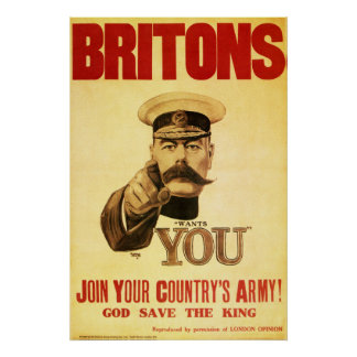 Britons Wants You, Lord kitchener Poster
