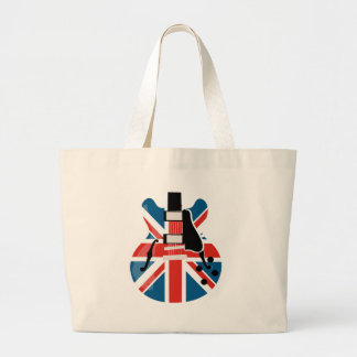 Britpop Guitar Large Tote Bag