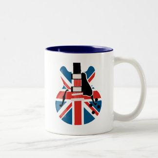 Britpop Guitar Two-Tone Coffee Mug