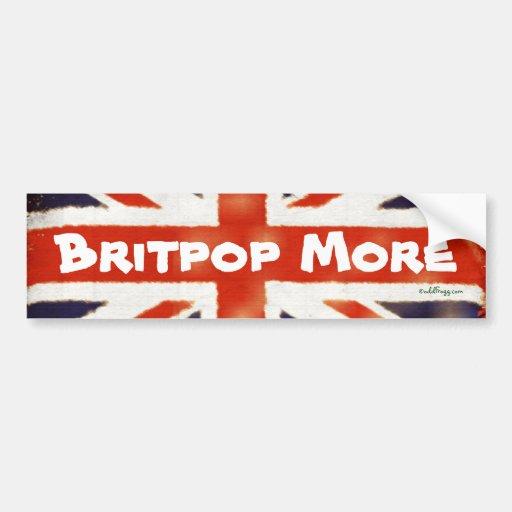 BRITPOP MORE Vintage Union Jack Bumper Sticker