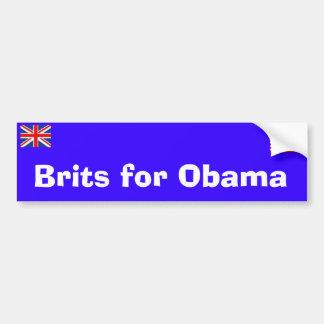 Brits for Obama Bumper Sticker Car Bumper Sticker