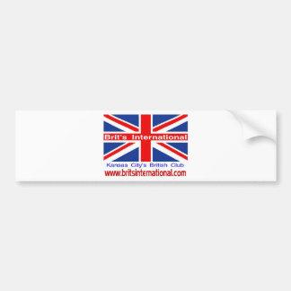Brit's International Car Bumper Sticker
