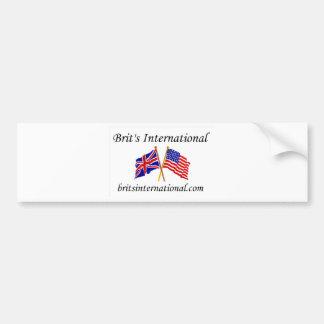 Brits International in White Car Bumper Sticker