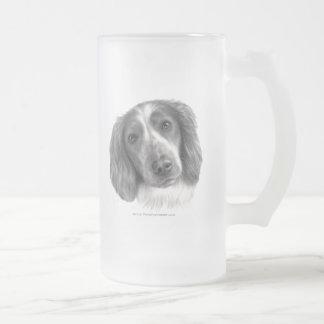 Britt, Welsh Springer Spaniel Frosted Glass Beer Mug