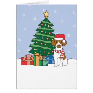 Brittany and Christmas Tree Card