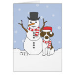 Brittany and Snowman Card