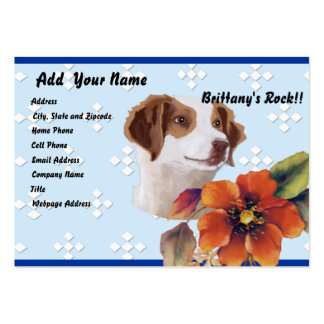Brittany ~ Blue w/ White Diamonds Design Pack Of Chubby Business Cards