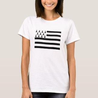 brittany Bretagne france region flag T-Shirt