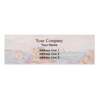 Brittany Coast by Maurice Prendergast Double-Sided Mini Business Cards (Pack Of 20)