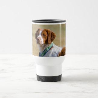 Brittany dog beautiful photo travel mug