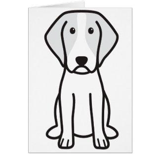 Brittany Dog Cartoon Greeting Card
