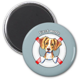 Brittany First Mate 6 Cm Round Magnet