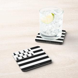 Brittany Flag Breton Beverage Coasters