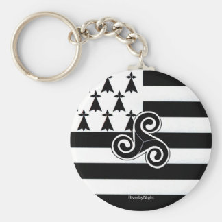 Brittany Flag (Breton) Key Ring