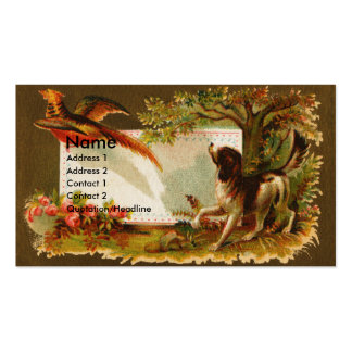 Brittany Flushes Pheasant Victorian Business Card Templates