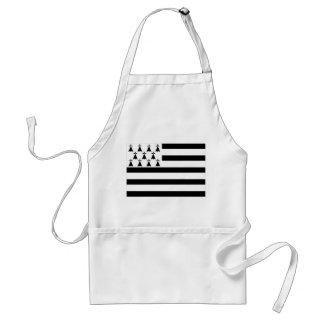brittany french region flag standard apron