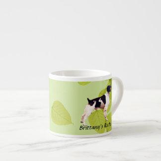 Brittany ~ Green Leaves Design Espresso Mug