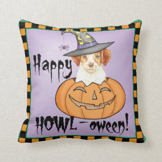 Brittany Halloween Throw Pillow