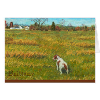 Brittany in the Field Greeting Card