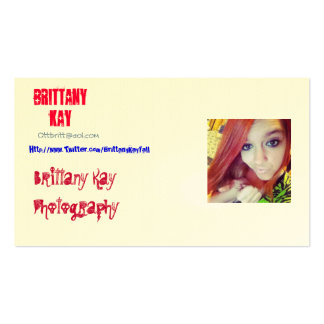 Brittany Kay Photography Pack Of Standard Business Cards