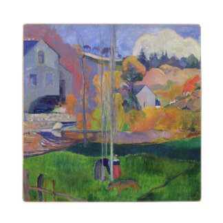 Brittany Landscape: the David Mill, 1894 Maple Wood Coaster