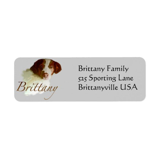 Brittany Return Address Label