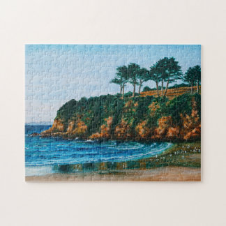Brittany Rocky Coast Acrylic Painting, Game 11x14 Puzzles