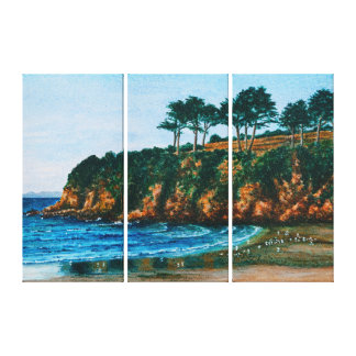 Brittany Rocky Coast Beach France Scenic Landscape Canvas Print