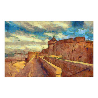 Brittany Seafront Castle Photographic Print