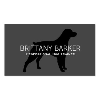 Brittany Silhouette Black on Grey Pack Of Standard Business Cards