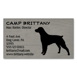 Brittany Silhouette Magnetic Business Cards