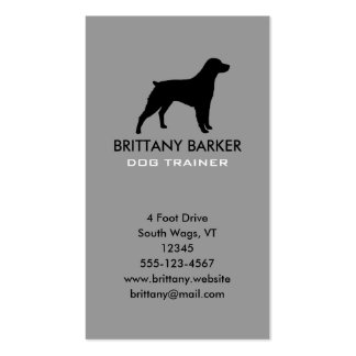 Brittany Silhouette Vertical Pack Of Standard Business Cards