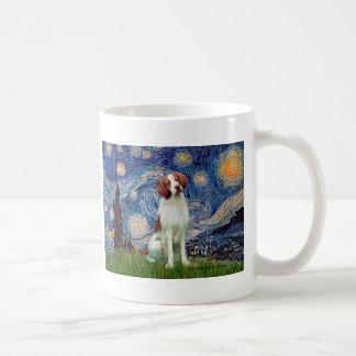 Brittany Spaniel 3 - Starry Night Coffee Mugs